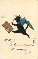 CHAT NOIR ILLUSTRATEUR RENE - Cats