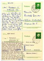 Germany 1960-61 2 Heuss Postal Cards Stuttgart To Köln-Lindenthal - [7] Federal Republic