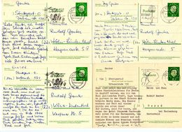 Germany 1960-61 6 Heuss Postal Cards Stuttgart W/ 3 Different Slogan Cancels - [7] Federal Republic