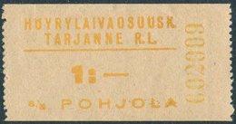 Finland 1920's Tarjanne Steamship Co. S/S POHJOLA 1 Mk Local Parcel Ship Mail Private Post Schiffspost Paketmarke Colis - Ships