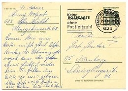 Germany 1965 15pf. Berlin-Tegel Postal Card Frankfurt Am Main To Nürnberg - [7] Federal Republic