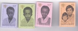 Unicef ST, VINCENT 1975  , SET  4 V,  MNH - UNICEF