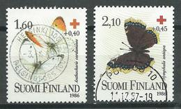 Finlande YT N°957-958 Croix-Rouge Papillons Oblitéré ° - Finlande