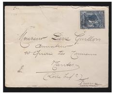 """FRANCE- NANTES- VOILIERS DU COMMERCE NANTAIS--  """"Alice-Marie""""-- LETTRE DE 1902 DE HOBART (TASMANIE) POUR NANTES - Poststempel (Briefe)"""