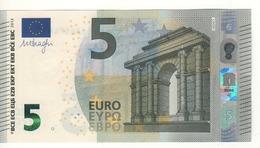 "5 EURO  ""Spain""    DRAGHI    V 004 F2  Serie VA6574407284    /  FDS - UNC - 5 Euro"