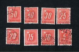 1. Feb. 1938 Portomarken  Gestempelt Kompletter Satz Michel 54 Bis 61 Gestempelt - Portomarken