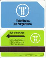 ARGENTINA(Urmet) - Telefonica Test Card 200 Units, Tirage 5000, 09/92, Mint - Argentine
