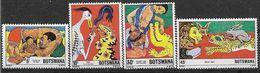 1980 BOTSWANA 405-08** Contes , Lion, Lapin, Crocodile - Botswana (1966-...)