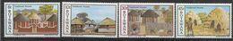 1982 BOTSWANA 447-50** Habitat Traditionnel - Botswana (1966-...)