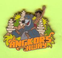 Pin's BD Disney Mowgli Baloo Angkors Away (Le Livre De La Jungle) - 4J04 - Disney