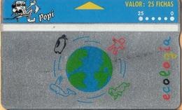 Argentina - Landis & Gyr, AR-Popi-03A, Ecologia - 411M, Globes, 1/94, As Scan - Argentina