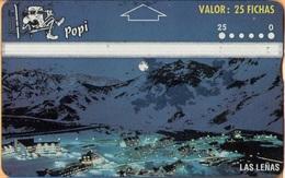 Argentina - Landis & Gyr, AR-Popi-11, Las Leñas - 407E,  Mountains, City Views, 10.000ex, 1/94, Used - Argentina