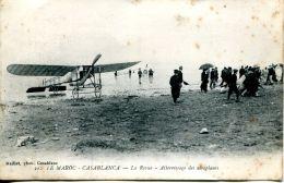 N°63550 -cpa Casablanca -atterrissage Des Aéroplanes- - Aerodromes