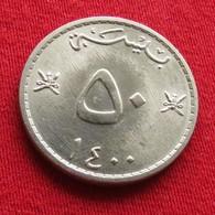 Oman 50 Baisa 1979 - 1980 / 1400 KM# 46a Omã - Oman