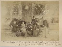 Groupe Dont Comtesse De Meffray , Baronne D'Estrella Et Comtesse  De Calvet-Rogniat . Château à Louviers . Circa 1883 . - Old (before 1900)