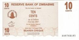 Zimbabue - Zimbabwe 10 Cents 1-8-2006 Pick 35 UNC - Zimbabwe