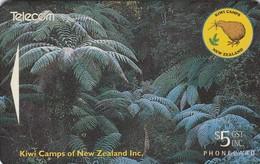 New Zealand, NZ-A-072, Kiwi Camps Og NZ Inc, Bird, Fauna, 2 Scans . - New Zealand