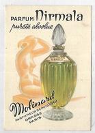 PARFUM NIRMALA Pureté Absolue - MOLINARD Parfumeur Depuis 1849 Grasse-Paris Format 6 X 9 Cm - Werbepostkarten