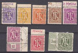 GERMANIA OCCUPAZIONE ANGLO-AMERICANA - 1945/1946 - Lotto Composto Da Otto Valori Usati. - Bizone
