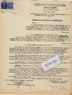 VP12.740 -TOURS - Acte De 1962 - Entre La S.N.C.F Ligne De TOURS Au MANS & La Sté MOBIL - OIL Française à PARIS - Chemin De Fer