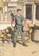 LEGIONAIRE -2 REGIMENT ETRANGER DE PARACHUTISTES. BEYROUTH LE LIBAN 1982 - Uniformes