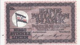 Notgeld - Hamburg - Hugo Stinnes Linien -  Eine Million Mark 1923 - Einzelschein    -  NG-131 - Lokale Ausgaben
