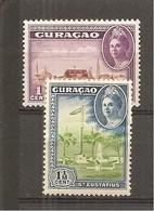 Curaçao  Yvert  149-50 (MH/*) - Curazao, Antillas Holandesas, Aruba