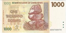 Zimbabue - Zimbabwe 1.000 Dollars 2007 Pick 71 UNC - Zimbabwe