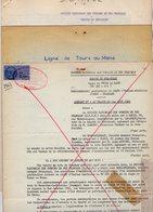 VP12.741 - TOURS X PARIS - Plan & 2 Actes De 1962 - Entre La S.N.C.F Ligne De TOURS Au MANS & La Sté ESSO - STANDARD - Chemin De Fer