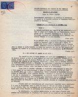 VP12.742 - TOURS - Acte De 1962 - Entre La S.N.C.F Ligne De TOURS Au NANTES & La Société ORVAL à PARIS - Chemin De Fer
