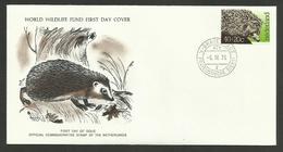Lettre - Cover FDC / NEDERLAND Hérisson - Hedgehog - Timbres