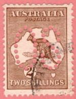 "AUS SC #OA11 U 1913 Official / 2sh Large ""OS"" Perf Flts CV $185.00 - Perfins"