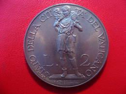 Vatican - 2 Lire 1936 - Superbe Et Rare (40 000 Exemplaires Seulement) 8797 - Vatican