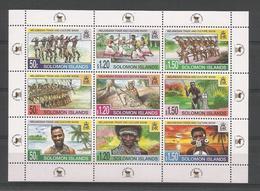 Solomon Islands 1998 Melanesian Trade & Culture Show Sheet Y.T. 913/921 ** - Solomon Islands (1978-...)