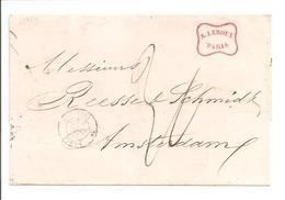 1854 Paris>Pays Bas Taxe 30. Sans Correspondance - 1849-1876: Période Classique