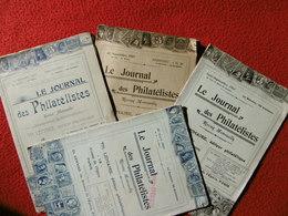 LE JOURNAL DES PHILATELISTES Edit LEMAIRE  Rare Revue - Frans