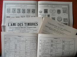 DOCS POUR PHILATELISTES TIMBRES 1892 - Timbres