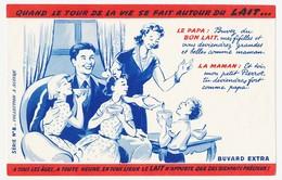 Buvard 20,8 X 13,9 Le LAIT En Famille  Série N° 8 - Dairy