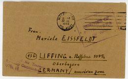 """POW Brief Australien-Bayern 1946 Aus Dem Lager """"VICTORIA"""" - Prisoner Of War - Bizone"""