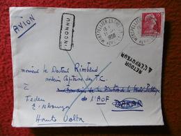 LETTRE CACHET MONTPELLIER VIA DAKAR GRIFFE INCONU RETOUR A L ENVOYEUR CACHET OUAGADOUDOU - Postmark Collection (Covers)