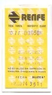 Ticket Treinkaartje Biljet Spoorwegen - Chemins De Fer - Billete Tren Renfe - 1974 - Chemins De Fer