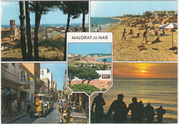 Malgrat De Mar: SEAT 850 SPECIAL, TRACTOR TOURIST TRAIN - Bombay Hotel, Beach - Costa Dorada - (Spain/Espana) - Toerisme