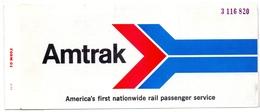 Ticket Treinkaartje Biljet Spoorwegen - Chemins De Fer - USA - Amtrak Rail 1975 - Monde