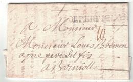 """1746 - LETTRE LAC Avec MARQUE POSTALE MP """" DE PERPIGNAN """" En PORT DU Pour BRIGNOLLES (VAR) - 1701-1800: Précurseurs XVIII"""
