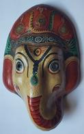 ETHNOLOGIE - INDE - HINDOUISME - GANESH - PAPIER MÂCHE PEINT - ARTISANAT - Asian Art