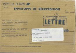 Enveloppe De Réexpédition Du Courrier _ N° 717 - Marcophilie (Lettres)