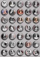 Gina Lollobrigida Movie Film Fan ART BADGE BUTTON PIN SET  (1inch/25mm Diameter) 35 DIFF - Films