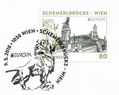 2018 Austria Österreich Mi.3393 FD-used Briefstück  . Europa: Brücken.: Schemerlbrücke, Wien - 2018