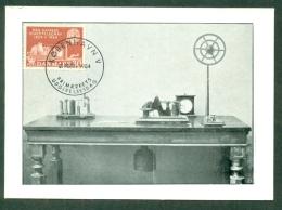 CM-Carte Maximum Card # 1954-Danemark #  Sciences -Télécommunications-Télégraphie # 100 Years Telegraphy, Appareil 1854 - Telecom