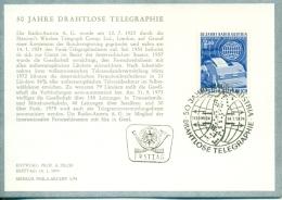 CM-Carte Maximum Card # 1974-Autriche  # Sciences -Télécommunications- Télégraphie -  # 50 Ans Télégraphie Sans Fil - Telecom